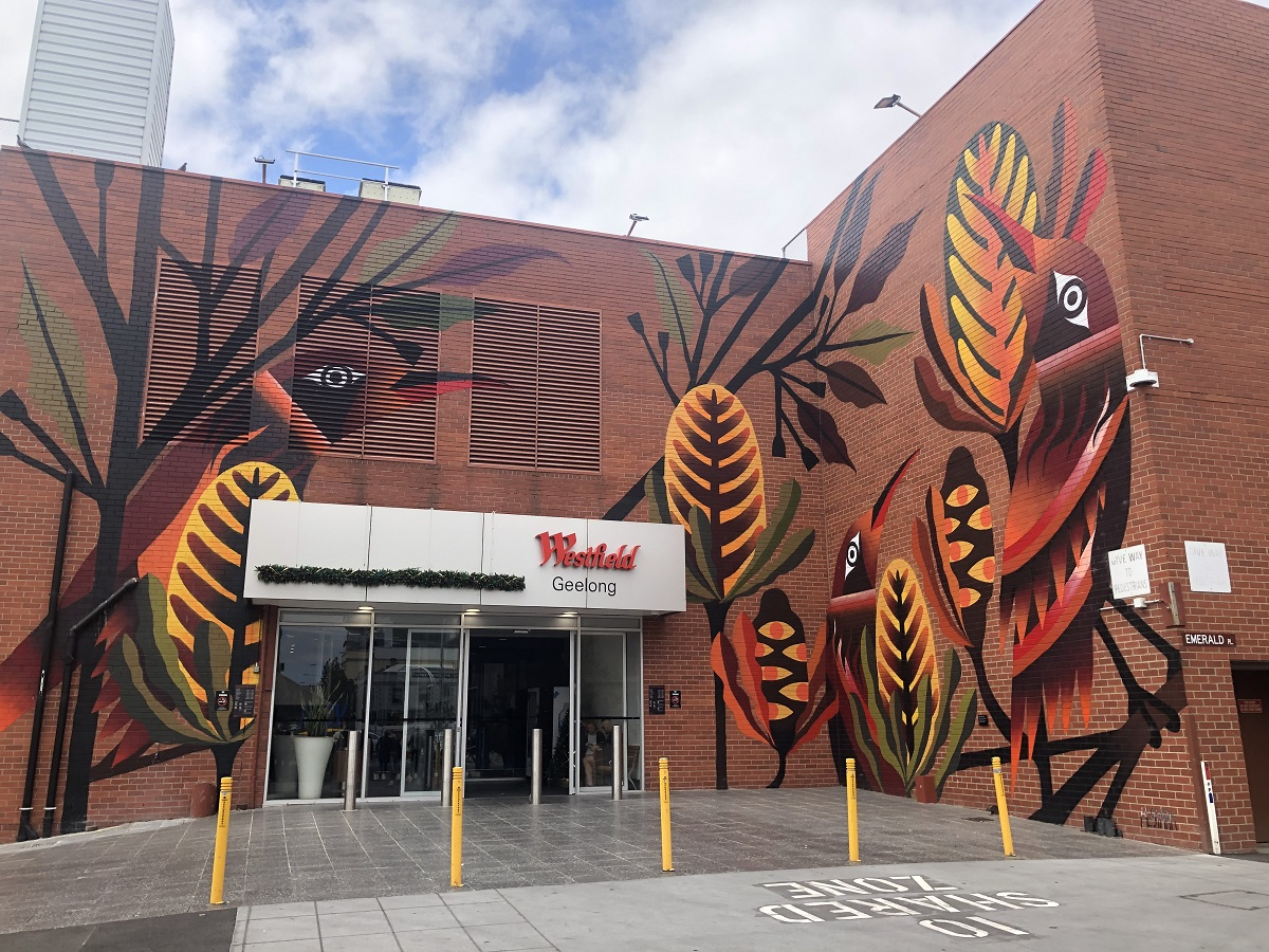 The accessible Corio Street entrance into Westfield Geelong